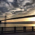 Beautiful view of the Bay Bridge during my 5k run for the #wwwp5k